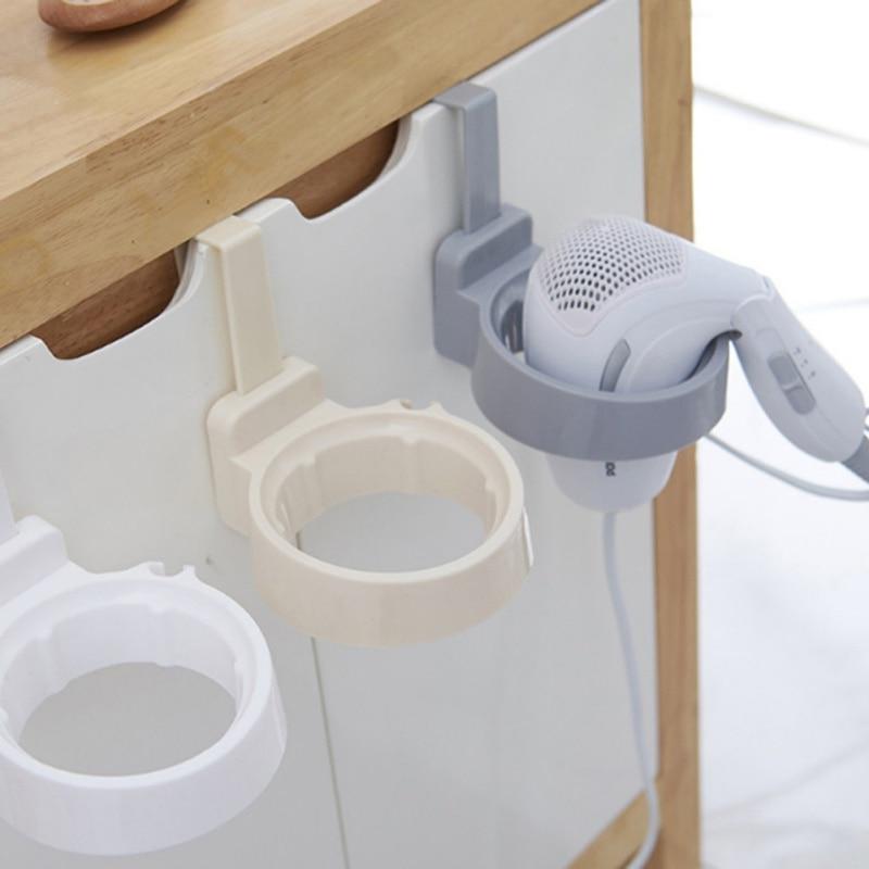 Фен стеллаж для хранения шкафчик с дверцей, держатель для волос, настенный держатель для ванной комнаты, полка для хранения X - 2