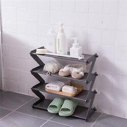 Z Shape Organizer prosty zmontowany stojak ze stali nierdzewnej półka do przechowywania butów książki rozmaitości sala sypialna sypialnia stojak na buty