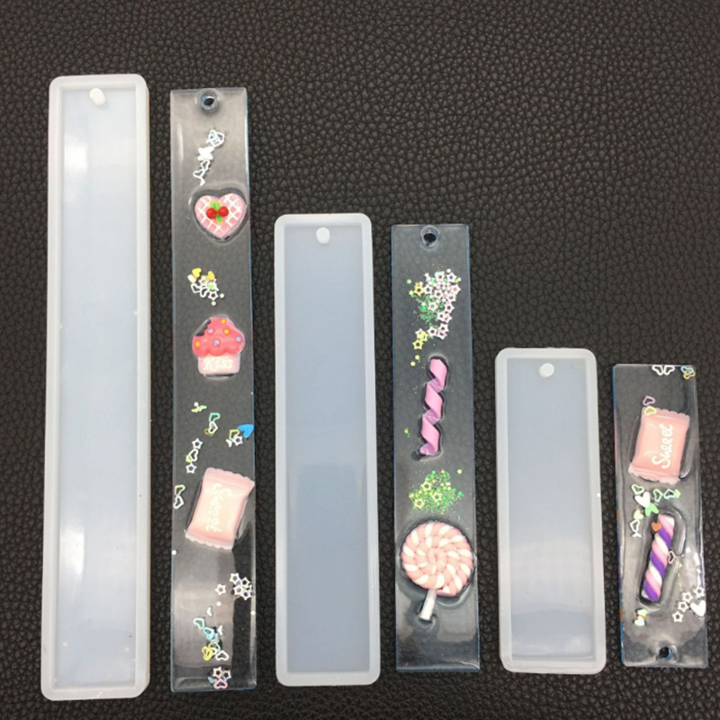 Rectangle Silicone Bookmark Mold, DIY Bookmark Mould Making Epoxy Resin Jewelry DIY Craft Silicone Transparent Mold