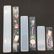 Прямоугольник силиконовые формы закладки, поделки закладки делать прессформы эпоксидной смолы ювелирных изделий DIY ремесло силиконовые прозрачные формы