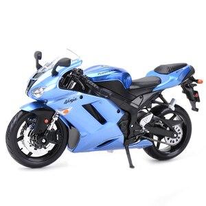 Image 1 - Maisto 1:12 Kawasaki Ninja ZX 6R Blauw Gegoten Voertuigen Collectible Hobby Motorfiets Model Speelgoed