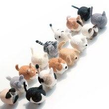 Easyhandmade lã feltro poke brinquedos pacote artesanal diy gato siamese shiba inu pingente iniciante conjunto de ferramentas
