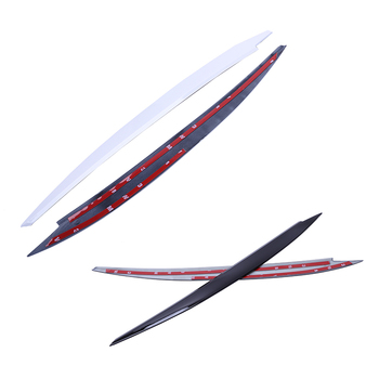 2X White Headlight Eyelids Eyebrow Cover Trim Decor For Vw Golf 7 Vii Gti R Mk7 image