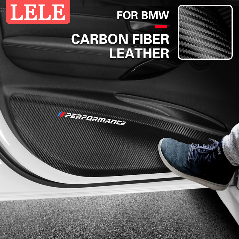 Car Door Anti-Kick Pad Leather PVC Protection Film Stickers For BMW E90 F30 F10 F07 F20 F25 F26 F15 F16 E84 F48 X1 X3 X5