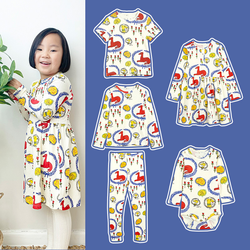 2021 Spring Toddler Girl Outfits Mini Newborn Baby Romper Boys Girls Cotton Dress Underwear Set Long Sleeve Casual Home Service 1