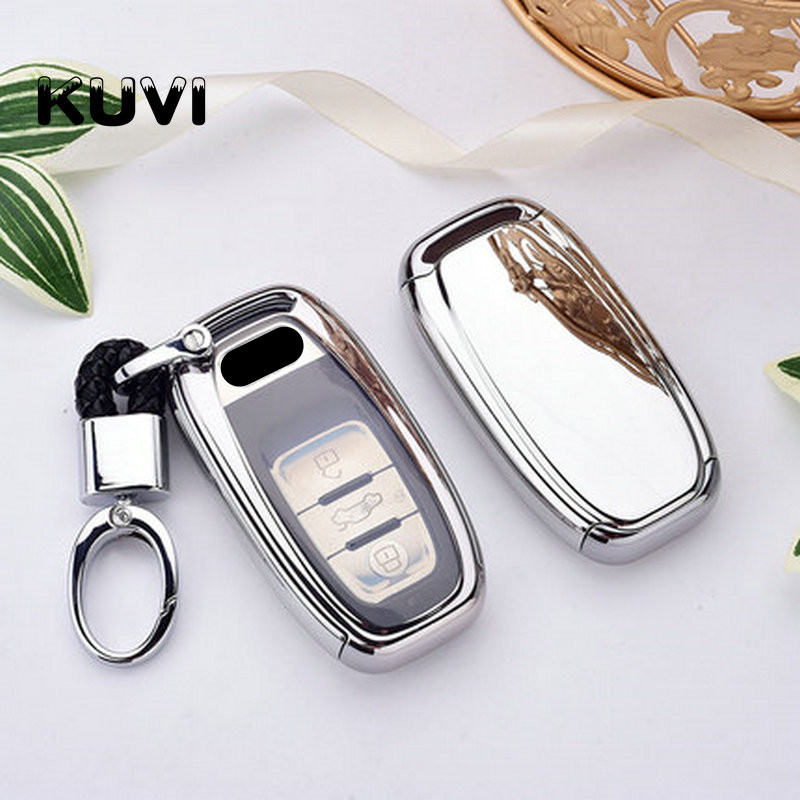 PC TPU Car Key Cover Fob Case Shell For Audi A1 A3 A4 A5 A6 A7 A8 Quattro Q3 Q5 Q7 2009 2010 2011 2012 2013 2014 2015