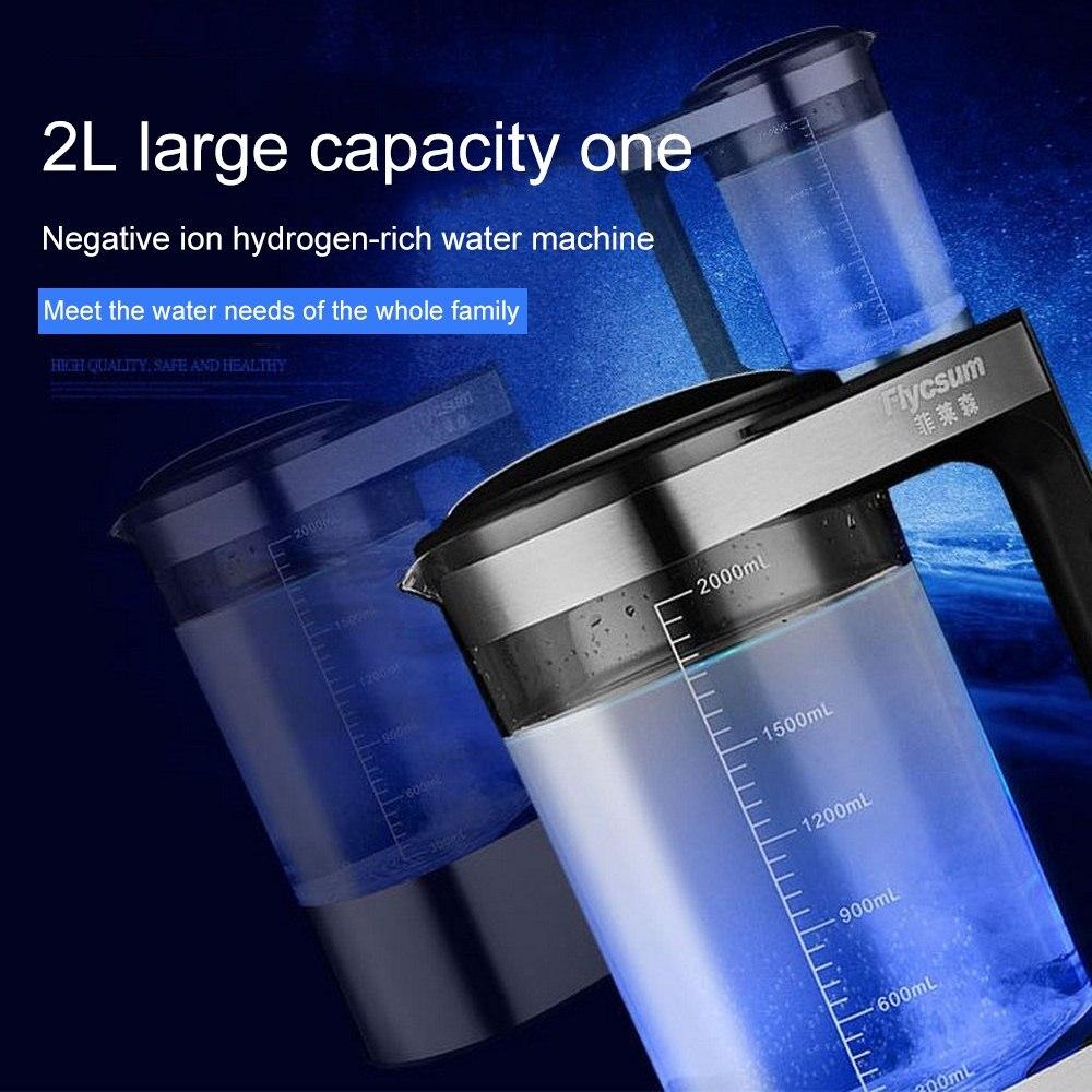 2Л богатая водородная бутылка для воды ионизатор щелочной воды машина фильтр для воды напиток генератор водорода 110 В/220 В ЕС/США - 2