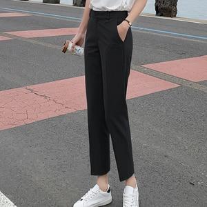 Image 4 - BGTEEVER OL Style Women Pants Plus Size Casual Pencil Pant High Waist Elegant Work Trousers Female Suit Pant pantalon femme 2019