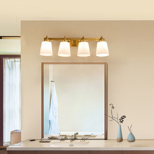 Modern Bathroom Light Glass Shade Luxury Gold Black Wall Bath Lights LED Lamps Fixtures For Living Room 4 four-light