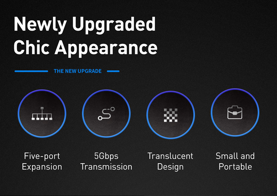 Baseus Transparent Series Dual-Port Type-C Multifunctional HUB 6