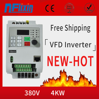 High Quality AC driver 380v 4KW 3 Phase Frequency Converter 60hz 50hz