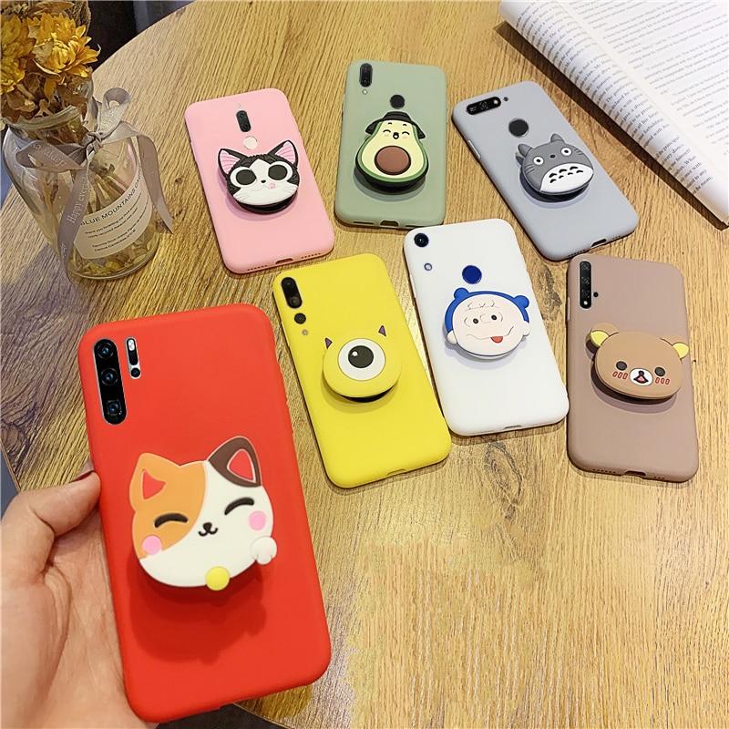 3D Cute Silicone Case for Samsung Galaxy J2 J3 J4 J5 J6 J7 Pro Plus Prime Core 2015 2016 2017 2018 Cover Cartoon Holder Cases(China)