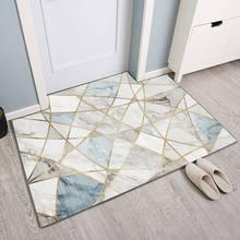 Capacho para a porta de entrada antiderrapante lavável retângulo tapete da porta banho cozinha tapete sala de estar decoração de casa tapete de boas-vindas