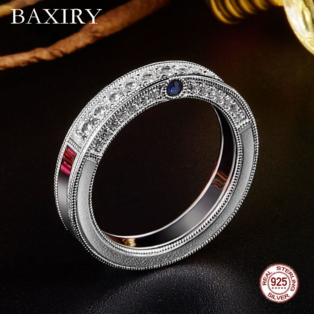 Garnet Citrine Ring 925 Sterling Silver Rings For Women Gemstones Natural For Jewelry Silver Ring Moissanite CZ Blue Topaz Ring