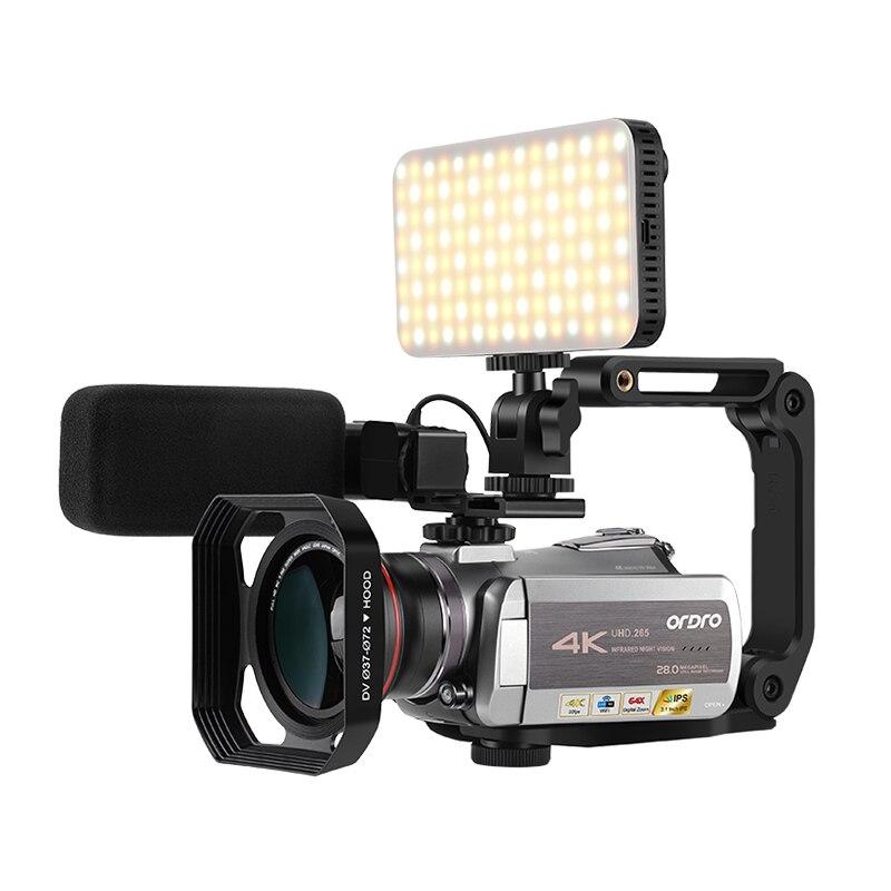 Câmera de vídeo real 4 k wifi 64x zoom digital 30fps visão noturna filmadora ordro az50 com microfone estéreo estabilizador