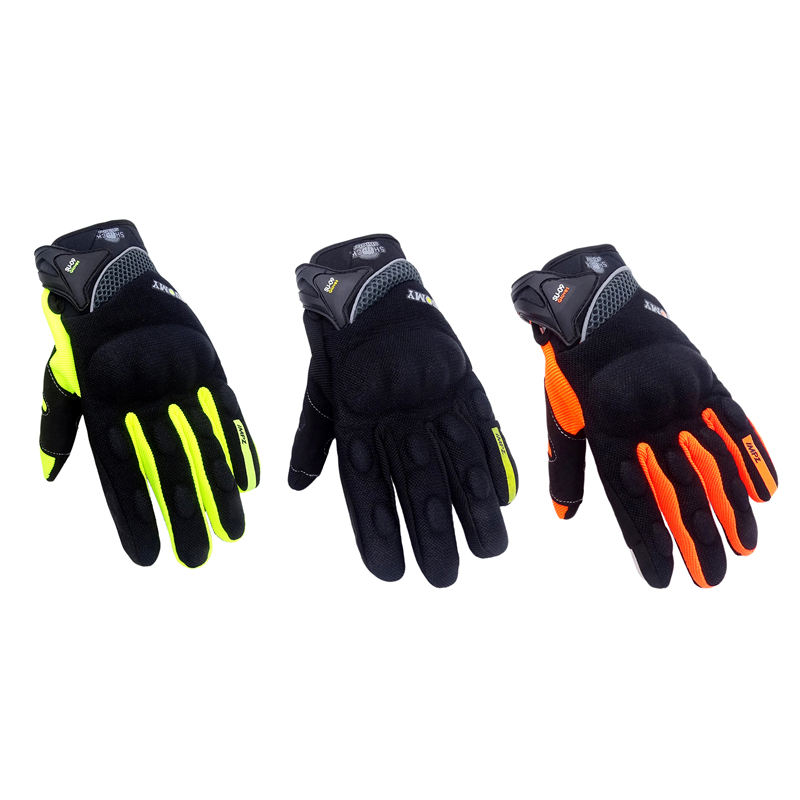 Unisex Summer Breathable Motorcycle Gloves Green Motocross Racing Gloves Full Finger Cycling ATV Rider Protector Gloves