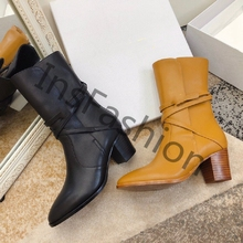 Genuine-Leather Boots Women's Shoes High-Heel Fashion Solid Spring/autumn Mature Classic