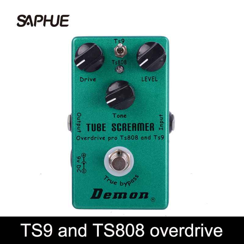 TS9 and <font><b>TS808</b></font> Two Modes Tube Screamer 2 in 1 Overdrive Guitar Effect Pedal Overdrive image