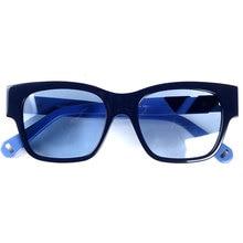 Frauen marke designer acetat sonnenbrille blau linsen 100% UV 400 schutz