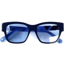 Vrouwen merk designer acetaat zonnebril blauw lenzen 100% UV 400 bescherming
