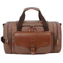 Повседневные дорожные сумки с большой емкостью холщовые ручной