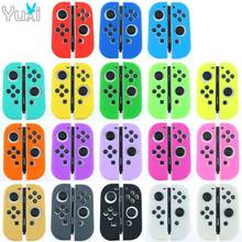 YuXi Silicone Rubber Skin Case Cover For Nintend Switch Joy Con Controller For NX NS Joycon Anti slip Soft Case