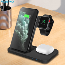 FDGAO 15W Wireless Charger Stand 3 in 1 Qi Fast Charging Dock Station For iPhone 12 11 XS XR X 8 Apple Watch 6 5 4 3 AirPods Pro