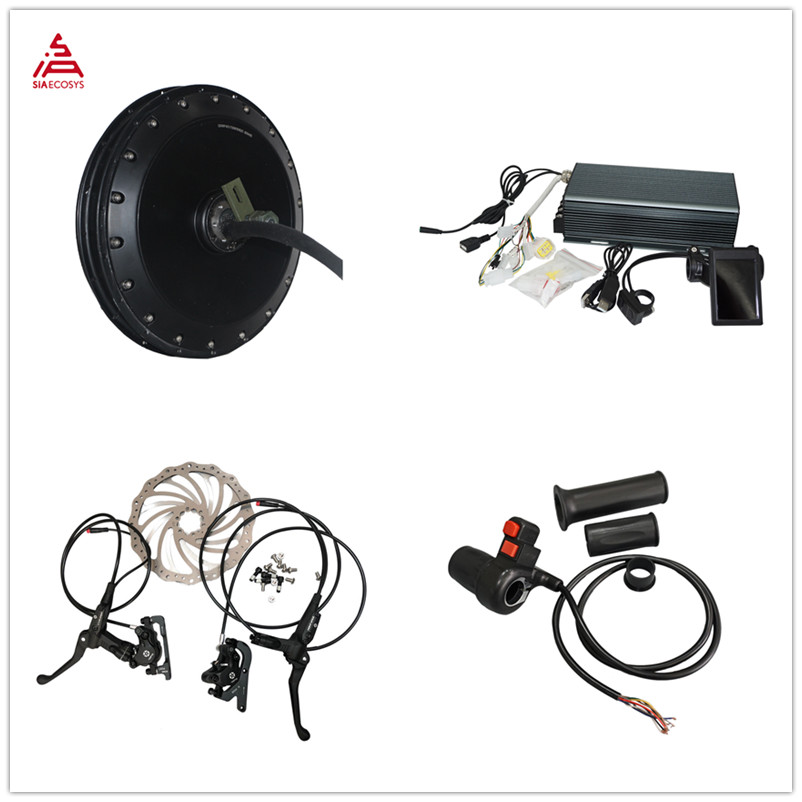 <font><b>QS</b></font> <font><b>Motor</b></font> 273 40H V3 Electric high power bicycle kit / E bike kit / spoke <font><b>4000W</b></font> Powerful Hub <font><b>Motor</b></font> Kit with TFT H6 speedometer image