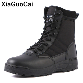 Big Size Man Army Military Tactical Boots Autumn Winter Outdoor Men Desert Ankle Boots Unisex High Top Lace Up Non-slip Shoes