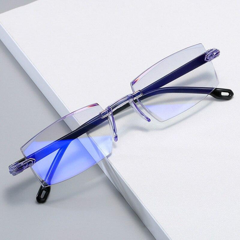 Очки для близорукости без оправы с защитой от сисветильник для мужчин и женщин-1,0-1,5-2,0-2,5-3,0-4,0