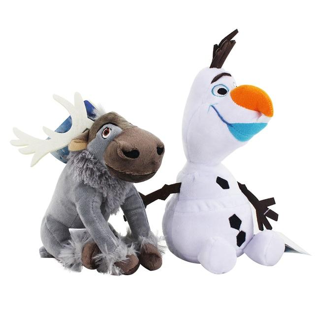 20cm Disney Olaf Frozen 2 Plush Dolls Little Toys Sven Stuffed Animals Figures Collection for Children Birthday Christmas Gift