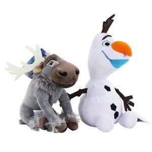 Image 1 - 20cm Disney Olaf dondurulmuş 2 peluş bebek küçük oyuncaklar Sven doldurulmuş hayvanlar figürleri koleksiyonu için çocuk doğum günü noel hediyesi