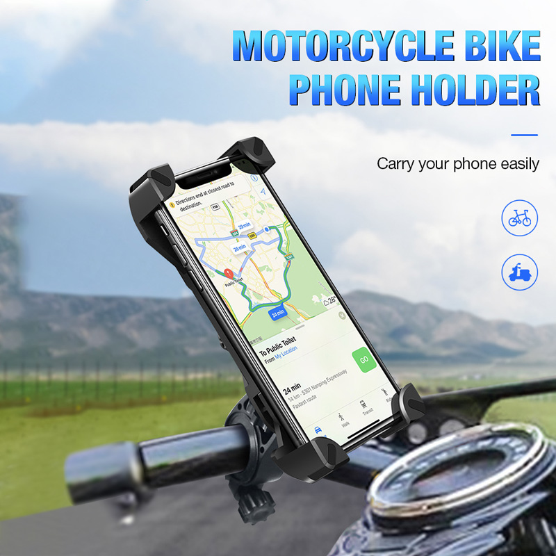 Bicycle Phone Holder for 3.5-7 inch Phone Mount 360 Rotation Mountain Bike Motorcycle Holder Handlebar Stand Support GPS Bracket
