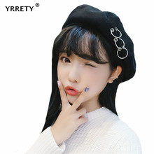 YRRETY Hats For Women Ladies Beret Embroidered Beret Slouchy