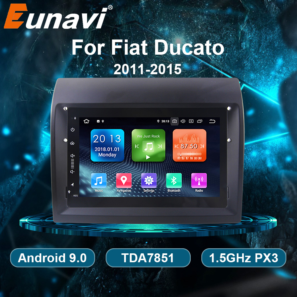 Eunavi Android 9.0 samochodowe radio odtwarzacz multimedialny GPS Stereo dla fiat ducato 2011-2015 Citroen Jumper Peugeot Boxer nawigacji 1din