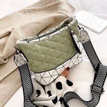 Matcha Color Women Bucket Bag Female Shoulder Bags Thread Panelled Handbag Bao Bao Bag for Lovely Lady PU Leather Messenger Bags недорого