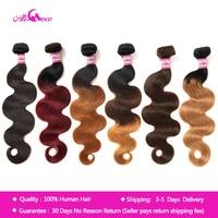 Ali Coco Brazilian Body Wave Hair Extensions 8 30 inch 100% Human Hair Weave Bundles 3/4 PCS Omber Non Remy Hair Bundles