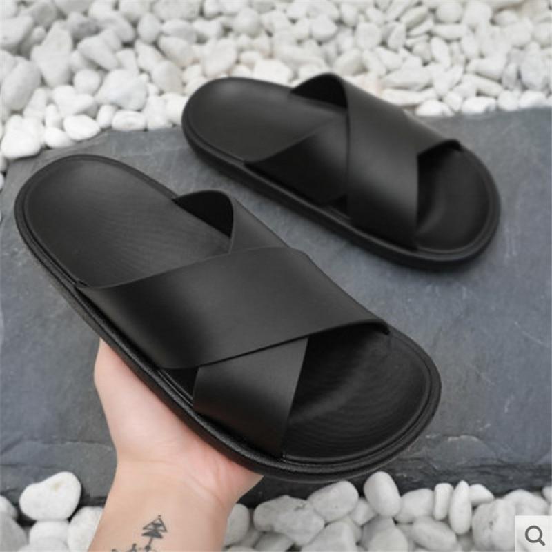 Slippers For Men Summer Slippers Non-slip Soft Beach Slides Flats Shoes Home Women Man Slipper Outdoor Footwear
