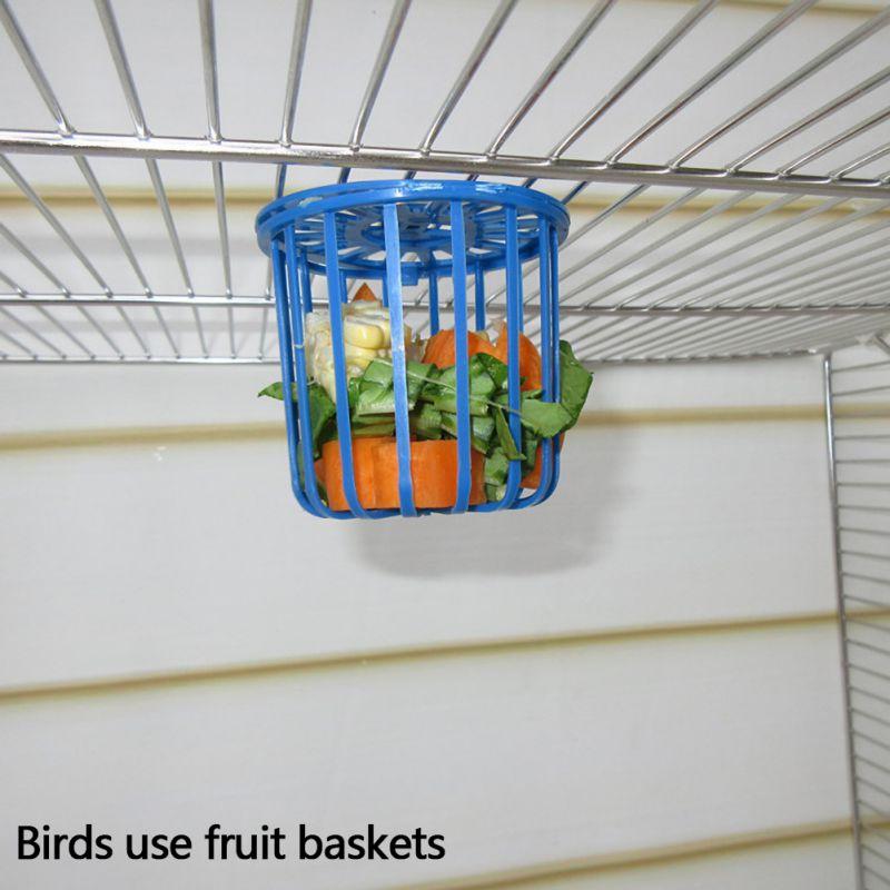 Mangeoire pour oiseaux oiseau perroquet cage distributrice fruits légumes cage de support suspendu panier conteneur animal de compagnie