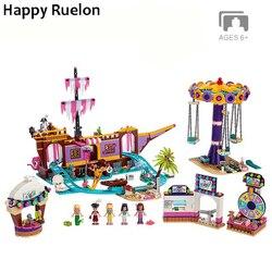 Новый набор для друзей, парк развлечений, подходит для Legoingly Friends, модель 41375, строительный блок, кирпичи, игрушки для девочек, рождественские ...