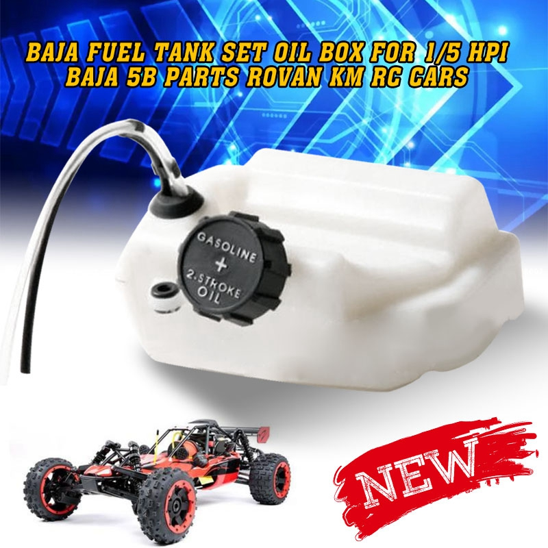 Baja Fuel Tank Set Oil Box For 1/5 Hpi Baja 5b Parts Rovan Km Rc Cars Off-road Remote Control Vehicles 5B 5T 5SC Parts Accessory