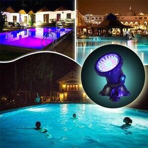 Image 5 - RGB Pond ไฟกันน้ำ Aquarium LED Spot Light Fish TANK Pond Garden ตกแต่งโคมไฟกับรีโมทคอนโทรล US/EU /UK/SAA ปลั๊ก