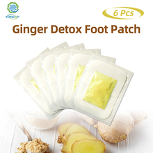 KONGDY Detox Foot Patches with Adhesive 6 Pieces Ginger Essential Oil Bamboo Pads Stickers Improve