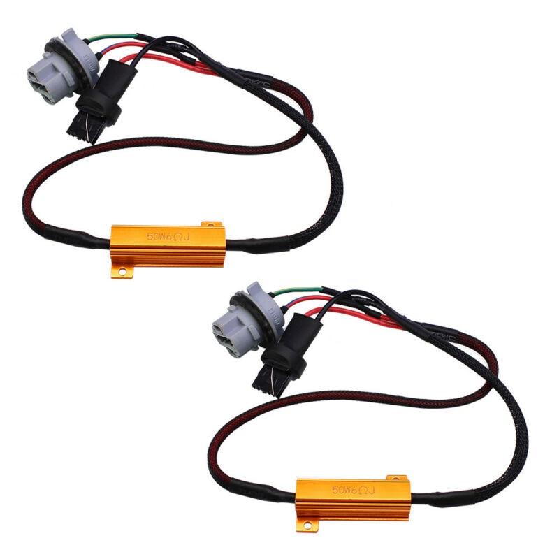 2pcs Car Load Resistor Wiring Harness 7440 T20 50W 6ohm Load Resistor Wiring Harness LED Bulb Error Free Decoding
