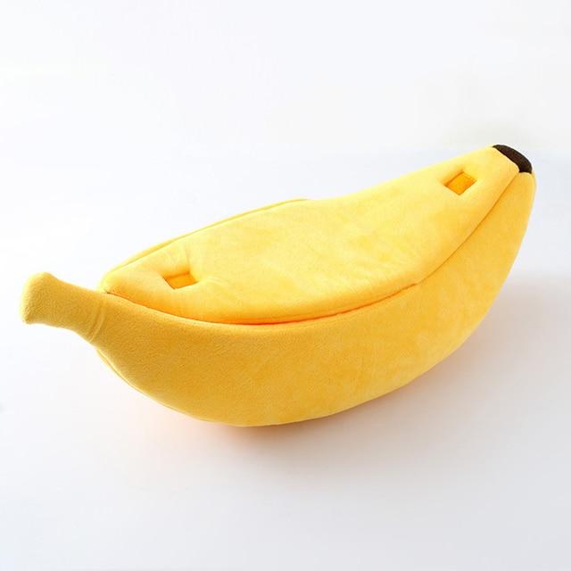 Panier Chat en forme de Banane fermé