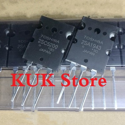 Real Original 100% NEW 2SA1943 2SC5200 A1943 C5200 TO-3PL  5Pair = 2SA1943 5PCS + 2SC5200 5PCS