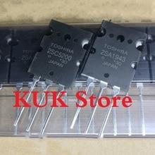 Real Original 100% NEW 2SA1943 2SC5200 A1943 C5200 TO-3PL  5Pair = 2SA1943 5PCS + 2SC5200 5PCS цена 2017
