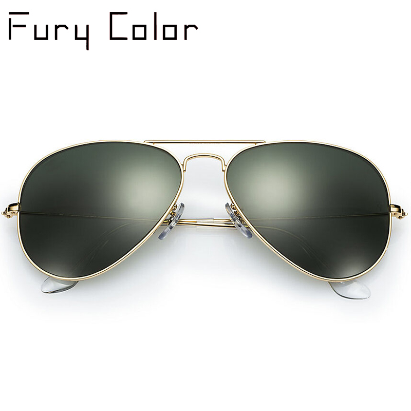 High Quality G15 Glass Lens women men Sunglasses uv400 aviation brand classic mirror male oculos vintage banned man sun Glasses image