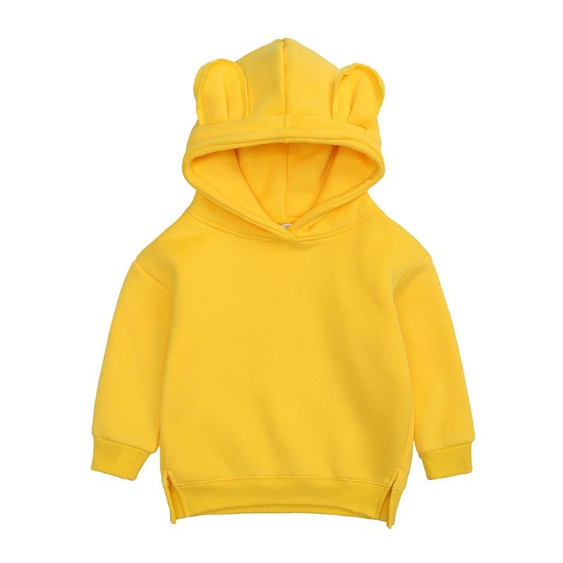 Baby Boys Girls Hoodies Cotton Hooded Sweatshirt Children Fashion Clothes Kids 2021 Infant Cartoon Clothing Pink Gray winter 3