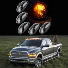 Right Left Holes Cab Clearance Marker Smoke Light Lens 9 LED T10 Amber Lamps for 99-02 Dodge Ram 2500 3500(China)